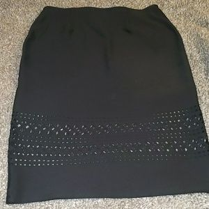 New York clothing company black skirt